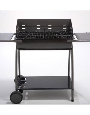 Barbecue au charbon de bois NATERIAL Dana, gris anthracite