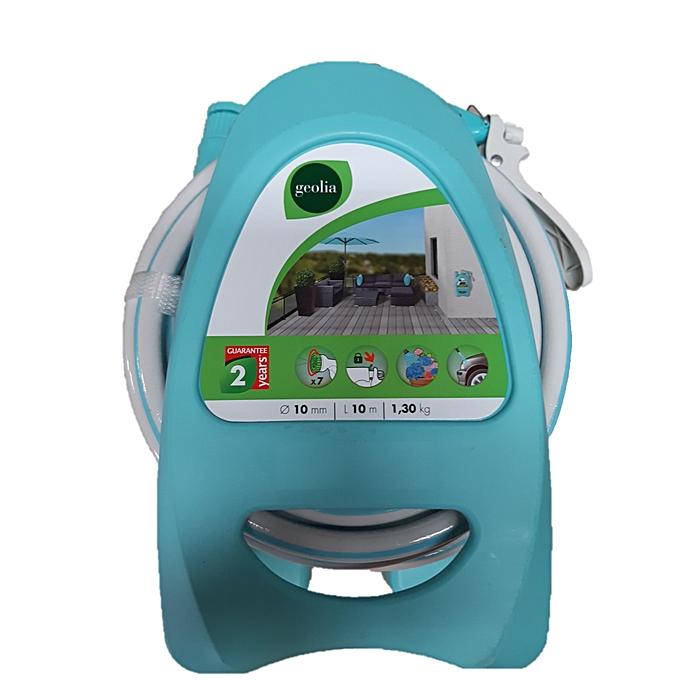 Dévidoir Portable Bleu équipé Dun Tuyau Darrosage L10 M Garantie 2 Ans