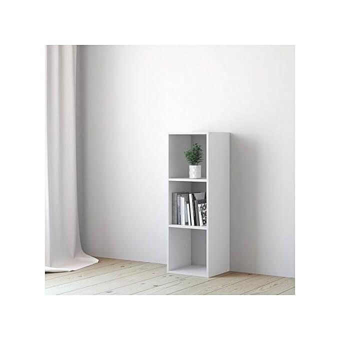 etagere 3 cases kub sans fond blanc h 104 8 x l 36 x p 31 7 cm
