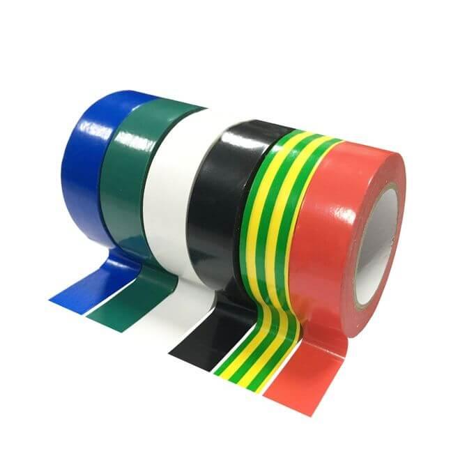 6 de Mix Rolls Colored Électrique PVC ISOLATION RUBAN 19 mm x 3 m Lot de 6 À faire soi-même